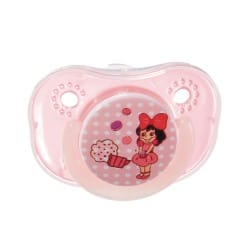 Farlin Chu Chu Pacifier with Chain Set-Orthodontic (Pink)