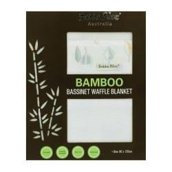 Bubba Blue Bamboo Leaf Bassinet Waffle Blanket