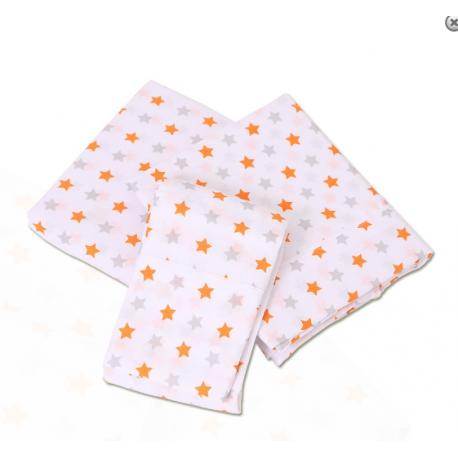 Bubba Blue Everyday Essentials 3pc Cot Sheet Set - Grey/Orange Star