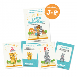 Mamahood Flash Card (Alphabet J-R) - Series 2