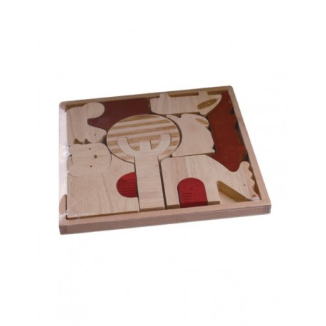 Magic Forest Red Wood Puzzle Series - Forest Animal Puzzle
