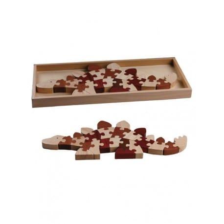 Magic Forest Red Wood Puzzle Series - Stegosaurus Puzzle