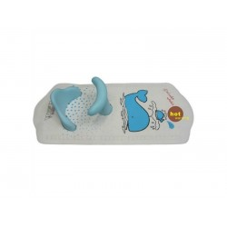 SMT Baby Bambino Bath Mat With Seat (Suction) Blue