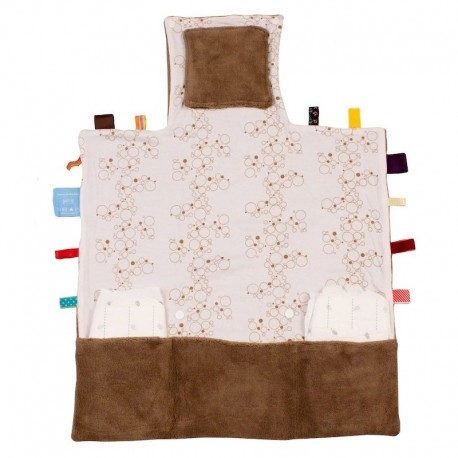 Snoozebaby Easy Changing Changing Pad - Camel Bubbles
