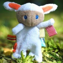 Snoozebaby Pacifier Holder - Mak the Cuddling Lamb