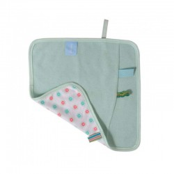 Snoozebaby Burping Cloth - Organic Mint