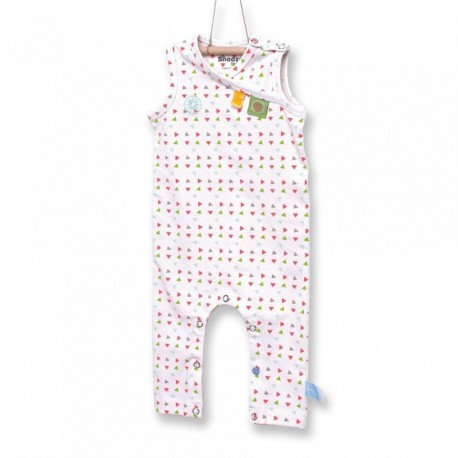 Snoozebaby Sleeveless Suit in Triangles - 0 months