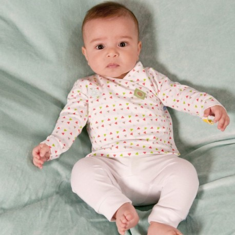 Snoozebaby Long Pants in White - 0 months