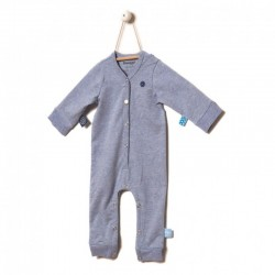 Snoozebaby Long sleeve Suit in Blue melange