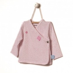 Snoozebaby Cardigan in Pink dot