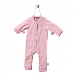 Snoozebaby Long sleeve Suit in Pink melange
