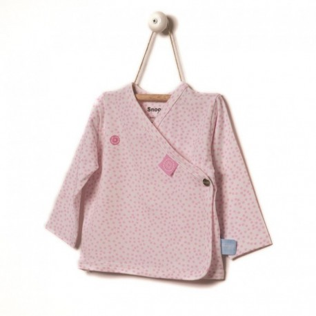 Snoozebaby Cardigan in Pink melange - 0 months