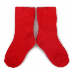 PLUSH Stay on socks (0-2yrs) - Red