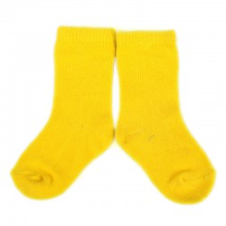 PLUSH Stay on socks (0-2yrs) - Yellow