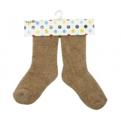 PLUSH Cozy Baby Socks 0-2 years - Brown