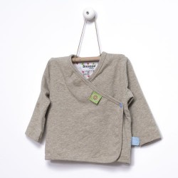 Snoozebaby Cardigan in Taupe Melange